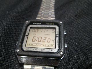 Casio Tc - 500 Lcd Digital Uhr Armbanduhr Vintage Bild