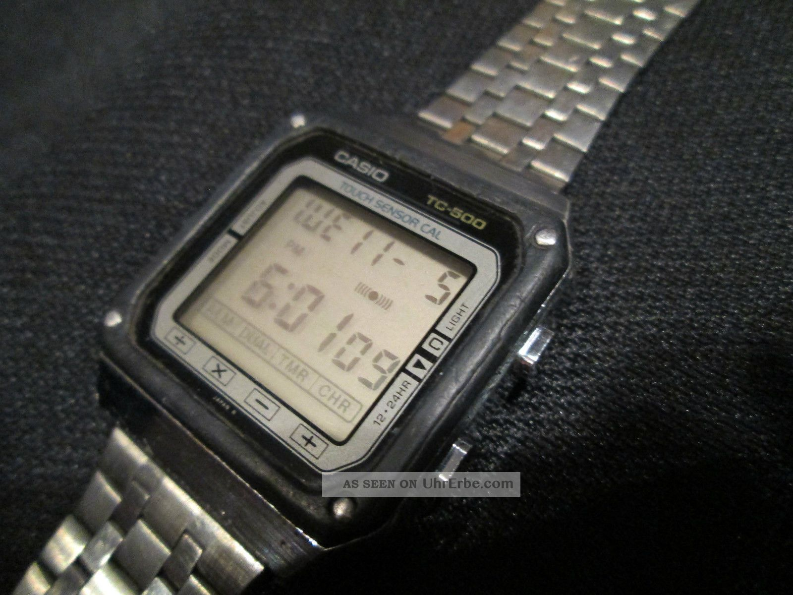 casio tc 500 lcd digital uhr armbanduhr vintage. Black Bedroom Furniture Sets. Home Design Ideas