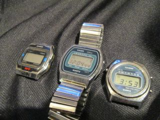 Sammlung 3x Casio Lcd Digital Uhr Armbanduhr Vintage Bild
