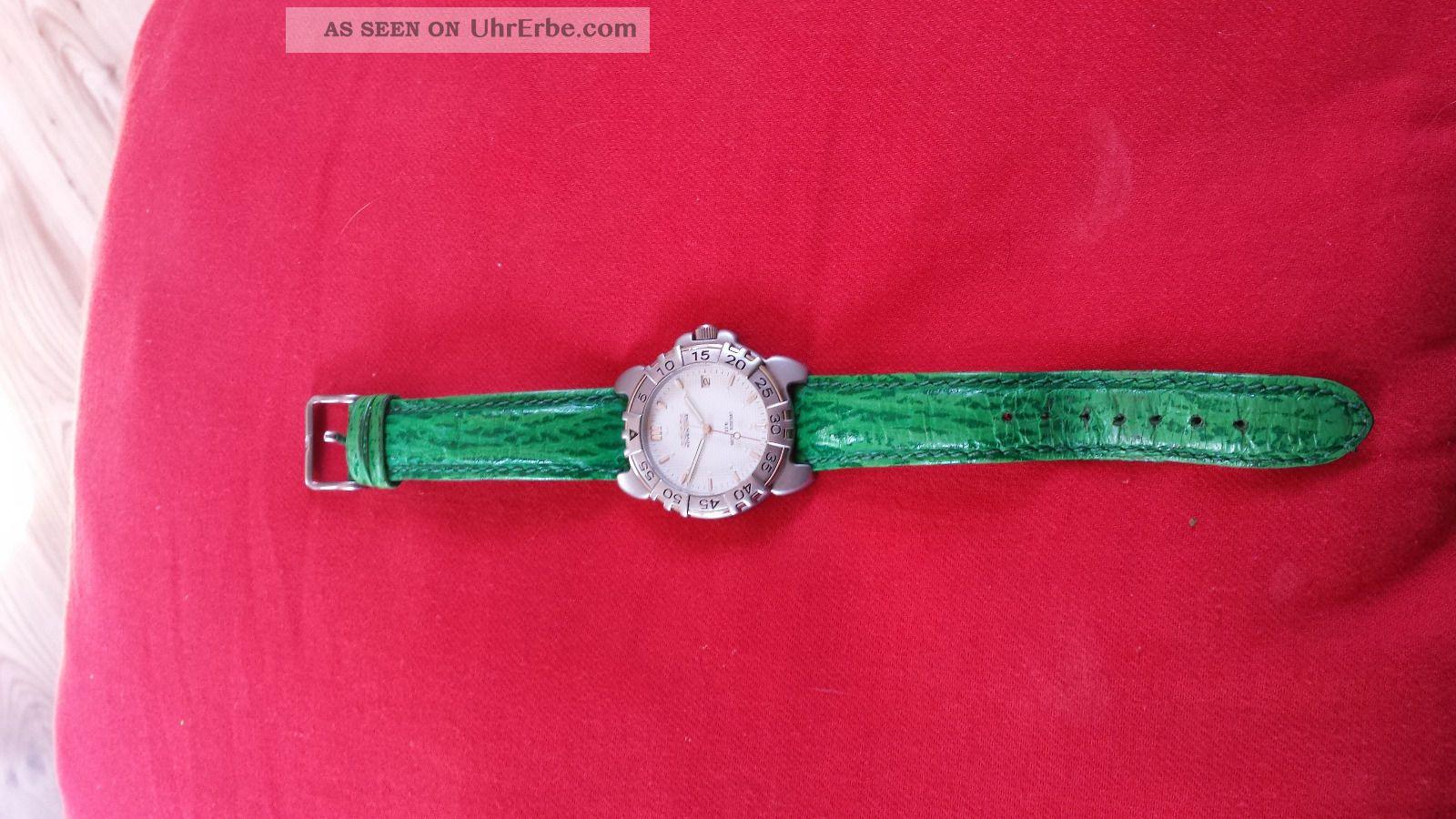 Adidas Armbanduhr Grün,  Leder Armbanduhren Bild
