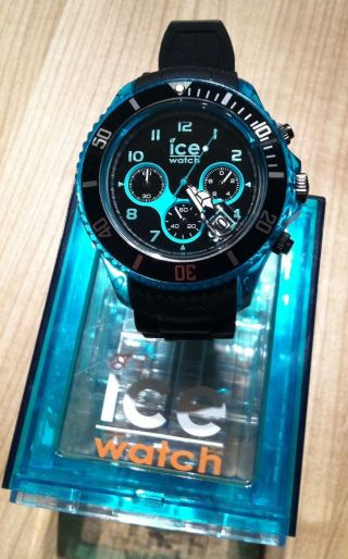 Ice Watch Chrono Big Big - Black - Turquoise Mit :) Bild