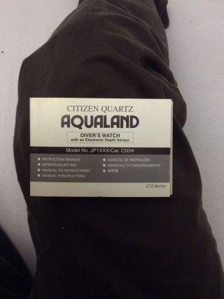Citizen Aqualand Bedienungsanleitung Bild