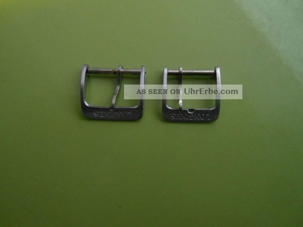 2 X Longines Dornschliesse Schliesse 16mm Und 14mm Armbanduhren Bild