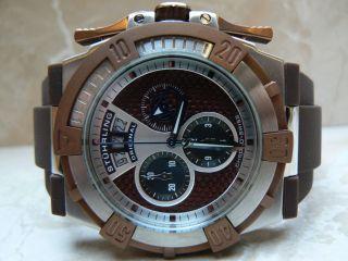 Stuehrling Stainless Steel Case Blue Calfskin Chronograph Schweizer Uhrwerk Bild