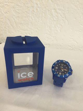 Ice Watch Sili Blue Big Uhr Neuwertig Bild
