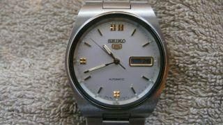 Seiko 5 Automatik Armbanduhr 70er Jahre Automatic Day Date Bild