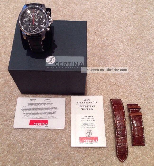 Certina Ds Podium Chronograph - Mit 2 Lederbänder Schwarz/braun Armbanduhren Bild