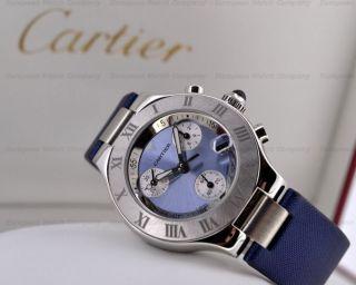 Cartier Chronoscaph 21 Blau,  Nagelneu, Bild
