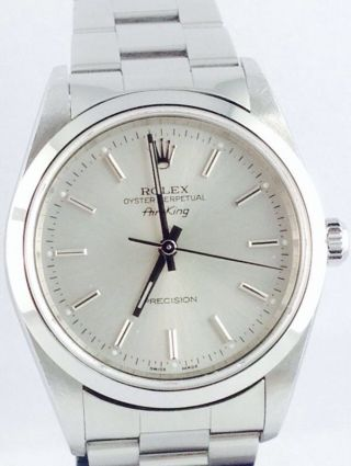 Rolex Airking Ref 14000m Steel Automatic 34mm Lc 100 Top Top Price Bild