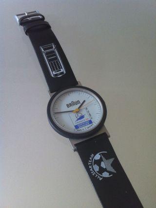 Braun Aw10 Type 4789 Fussball Wm France 98 Uhr Armbanduhr Design D.  Lubs Bild