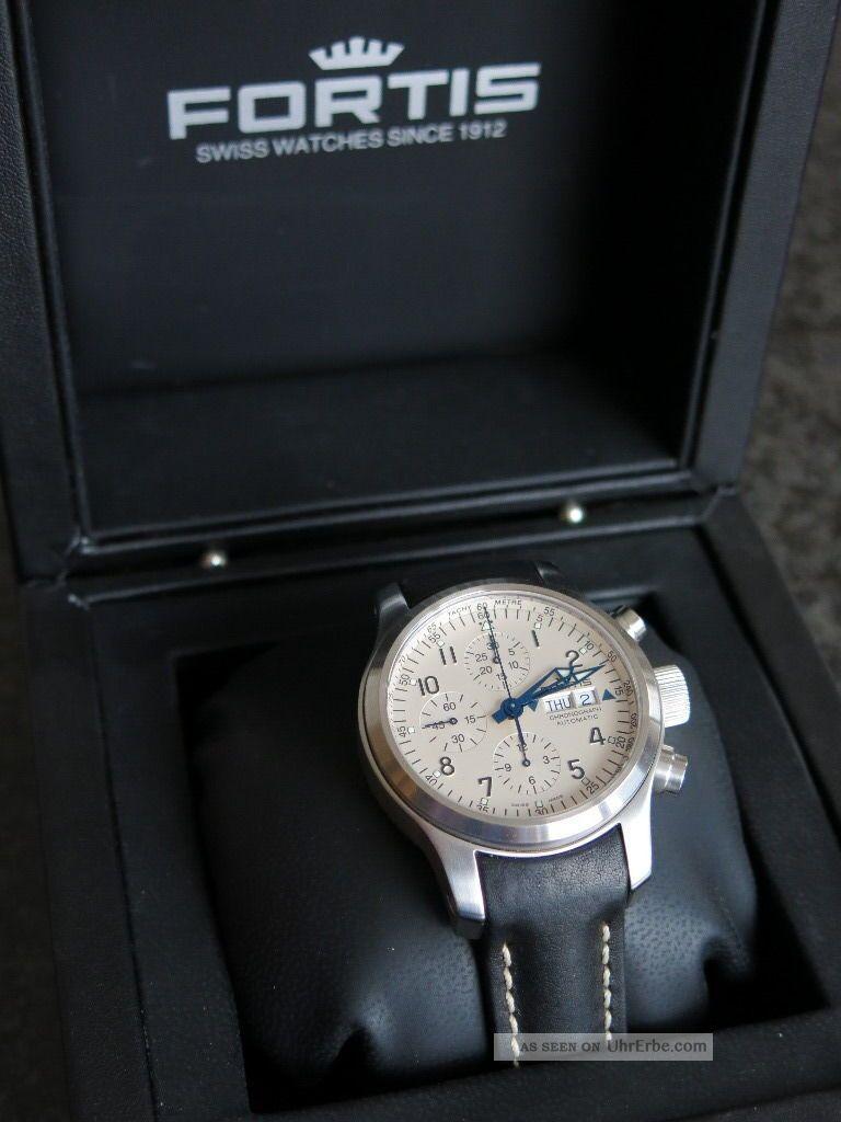 Fortis B - 42 Flieger Chronograph,  In Originalbox Mit Allen Papieren Armbanduhren Bild
