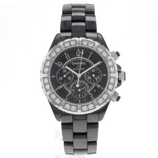 Chanel J12 H1178 Keramik Fabrik Diamanten Chronograph Unisex Armbanduhr Bild