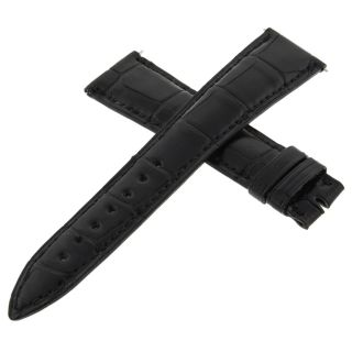 Franck MÜller Geneve Cousu Main 28d Schwarzes Leder Uhrenarmband 20 - 16mm Bild