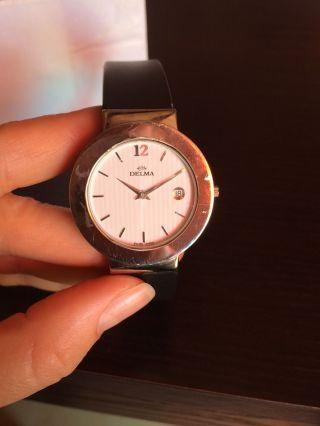 Swiss Made Marken Uhr Delma Stainless Steel Waterresist 3atm Schweiz,  Swatch Ac Bild