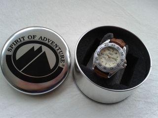 Spirit Of Adventure Unisex Armbanduhr Mit Lederarmband Bild