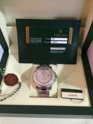 Rolex Yacht - Master Refr.  116622 Ø 40mm Platin/edelstahl Neu/ungetragen Uhr Bild