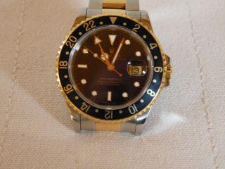 Rolex Gmt Master Ii Stahl Gold 16713 Mit Kaufgarantieschein 1997 Bild