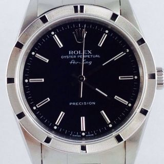 Rolex Airking Ref 14010 Steel 34mm Ca.  1997 Black Dial Bild
