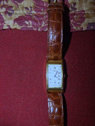 Minerva Herrenarmbanduhr 30iger Jahre Golddouble Bild