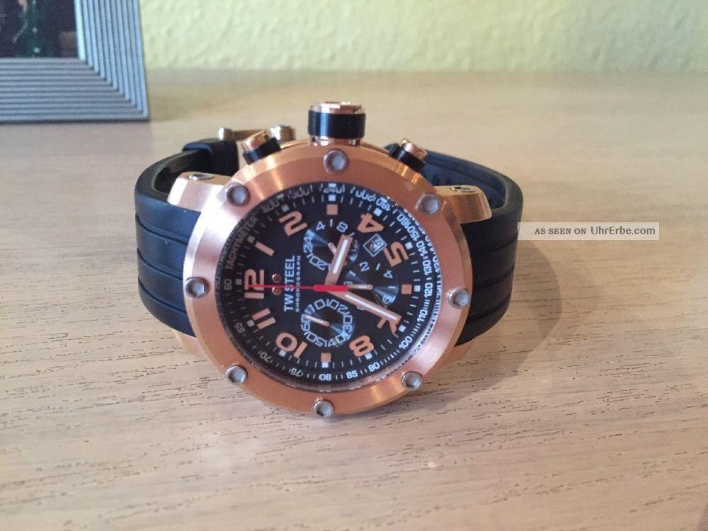 Tw Steel 130 Armbanduhr Chronografh Gold Wenig Uhr Armbanduhren Bild