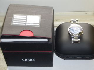 Oris Divers Second Date Stahl Automatik 47 Mm Mit Box,  Papieren Wie Bild