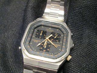 Seltene Citizen Chronograph Alarm 37 - 1025 Uhr Armbanduhr Vintage Bild