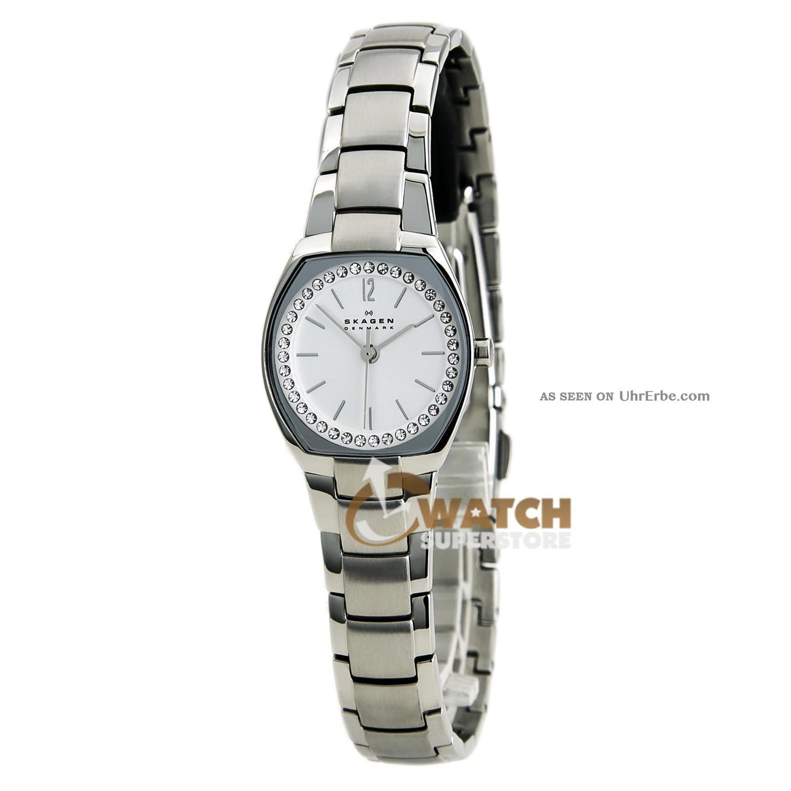 Armbanduhr Skagen Skw2110 Damen Uhr Kristall Silber Edelstahl Armband Armbanduhren Bild
