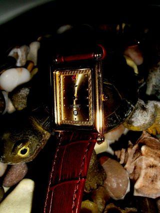 Bellux Damen Uhr 23k Gold Electroplated,  Rubin Noch Bis 7/2016 Bild