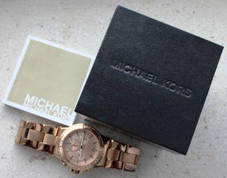 Michael Kors Mk5412 Armbanduhr Roségold Bild
