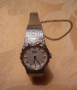 Damen Armbanduhr Seiko Quarz Edelstahl Silberfarben Bild