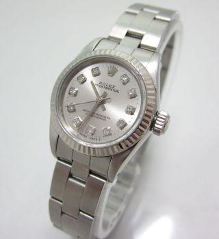 Rolex Oyster Perpetual Lady Stahl /weissgold Box U.  Papiere Diamantzifferblatt Bild
