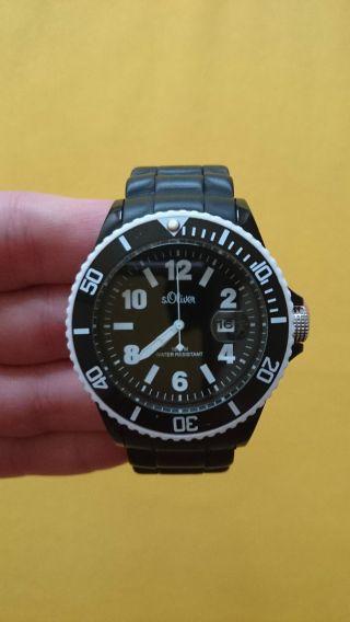 S.  Oliver Uhr 2731l Silikon Schwarz/weiß Bild