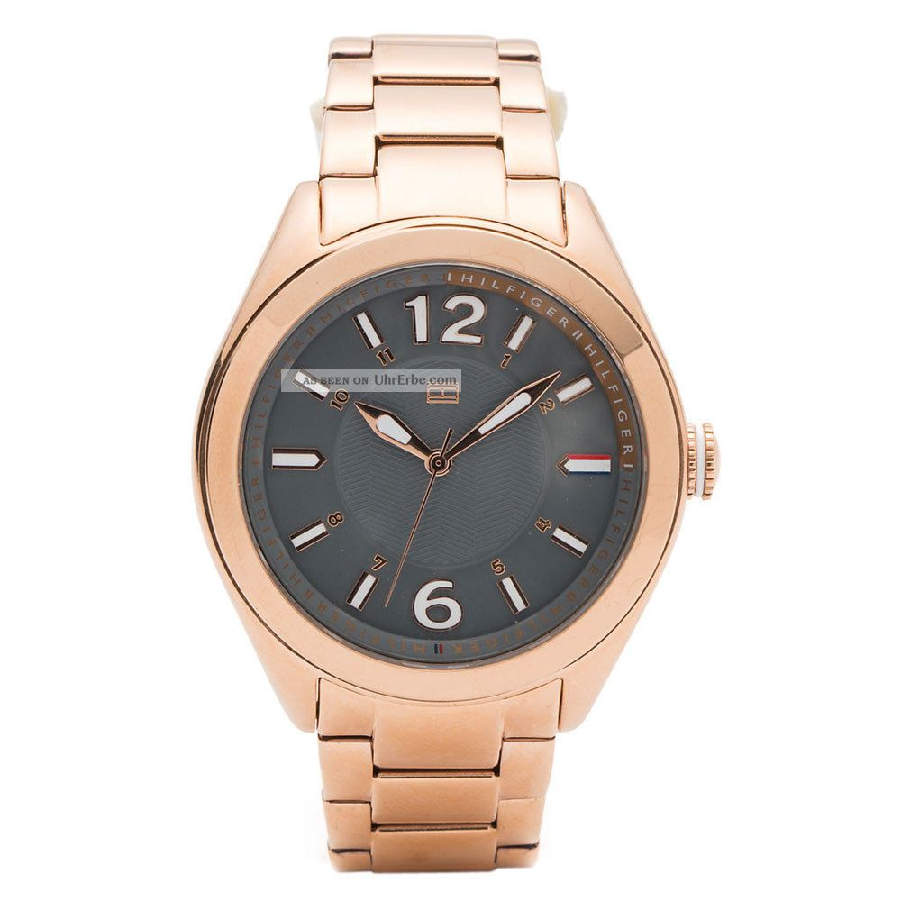 Tommy Hilfiger 1781369 Damen Rose Gold Überzogener Stahl Armbanduhr Armbanduhren Bild