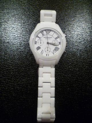 Emporio Armani Ceramica Armbanduhr Weiß Bild