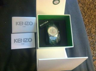 Kenzo Paris ● Armbanduhr Uhr Tigerkopf Silber Rose Tiger Np285€ Bild