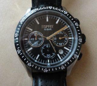 Esprit Chronograph Herrenuhr Es102861006 Gran Orbus,  Lederband Bild