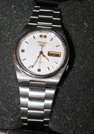 Seiko Herren Armbanduhr Bewegungsmechanik Automatic Modell 5 Bild