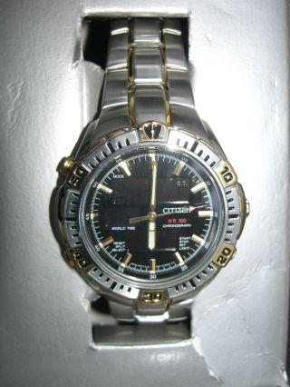 Neue Citizen Worldtimer Herren Armbanduhr Analog&digital Sammlung Rarität Bild