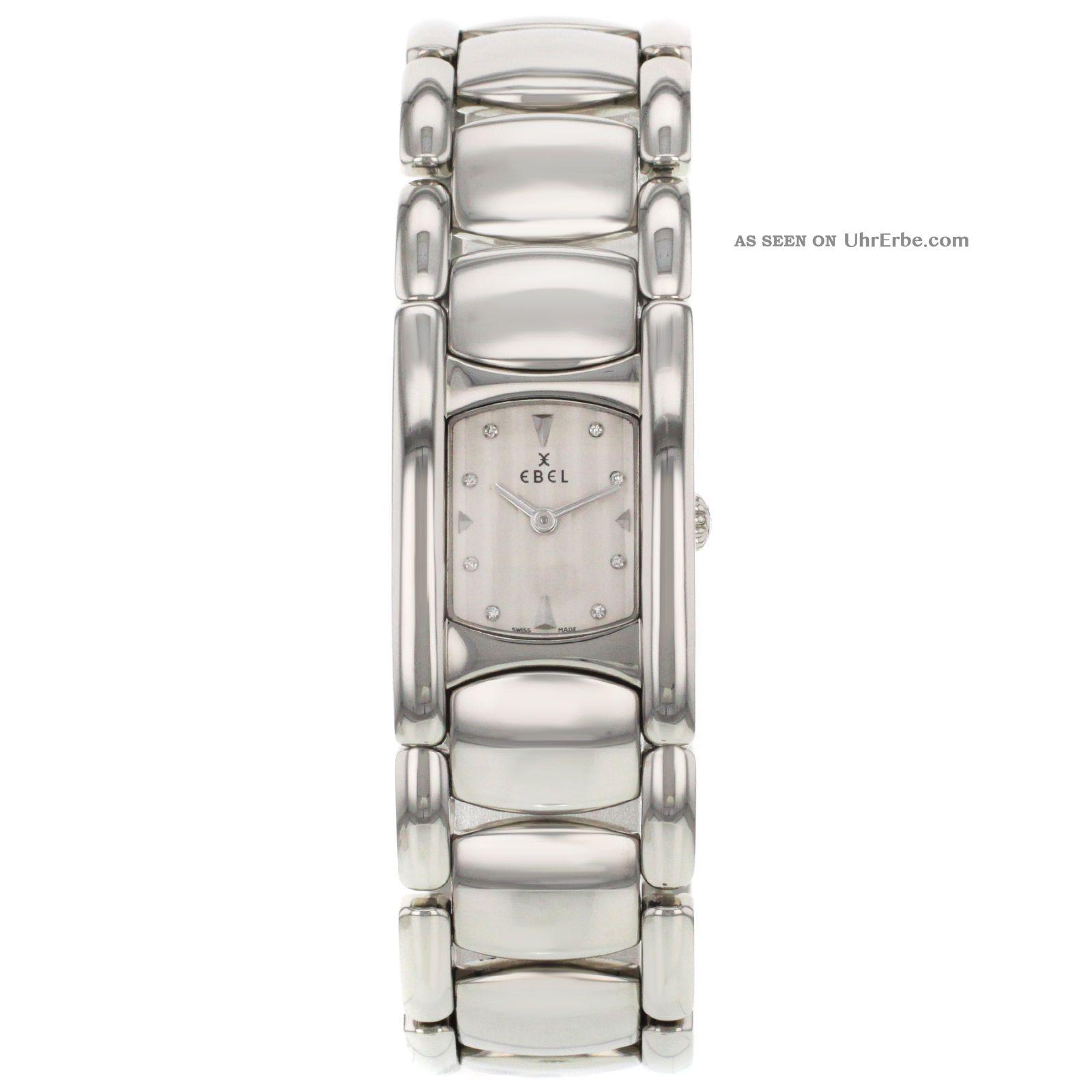 Ebel Beluga 9057a21 / 6750 Edelstahl - Quarz Damenuhr Armbanduhren Bild