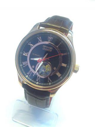 Detomaso Herren Armbanduhr Xl Cismon Automatik Analog Leder Braun Bild