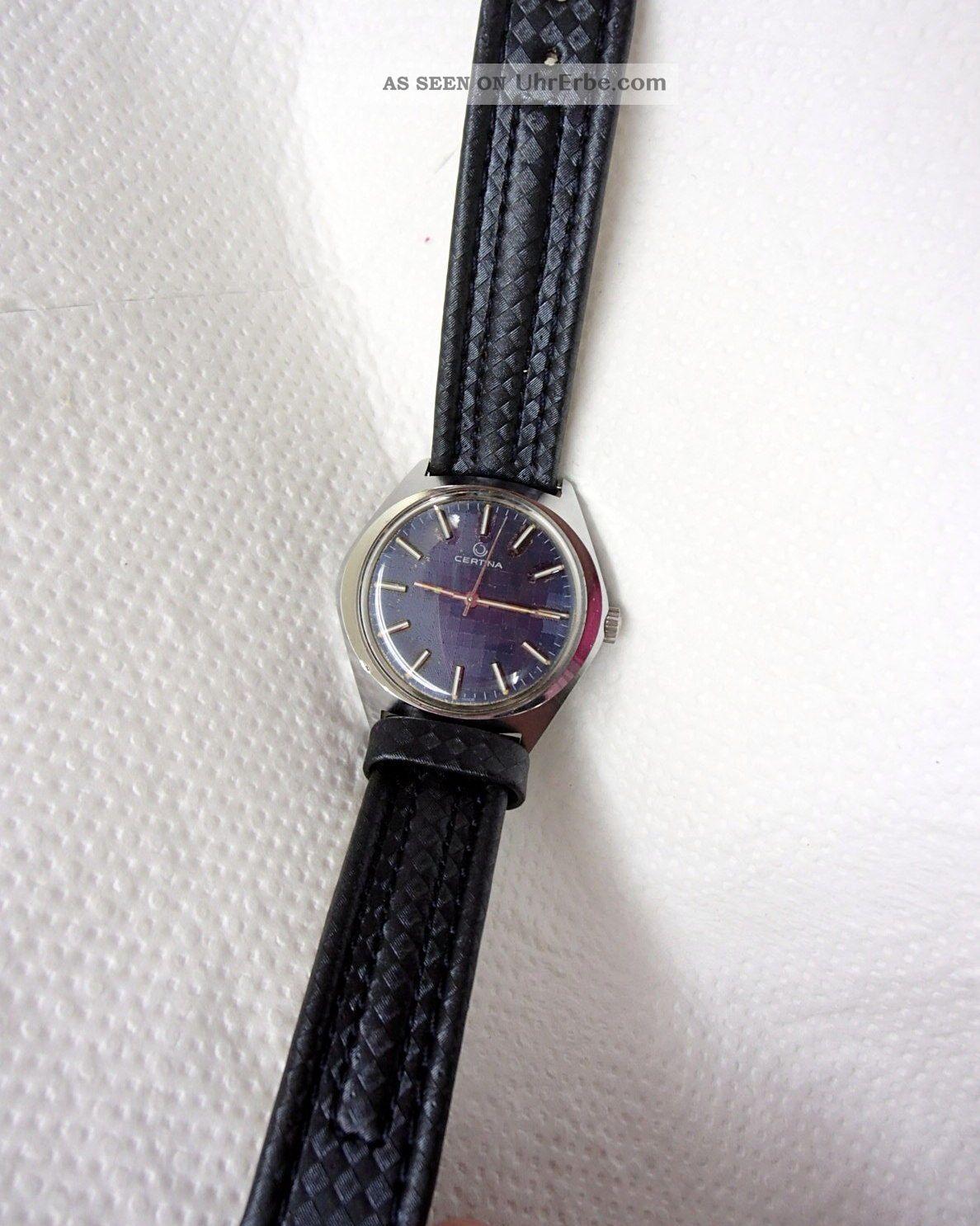 Certina Herrenarmbanduhr.  Kaliber 25 - 66 Edelstahl 17 Jewels Läuft Sofort An Armbanduhren Bild