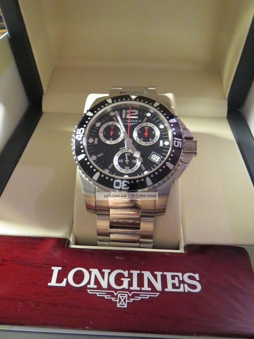 Longines Hydro Conquest L3.  643.  4 Quartz,  Ungetragen Uvp 1050€ Armbanduhren Bild