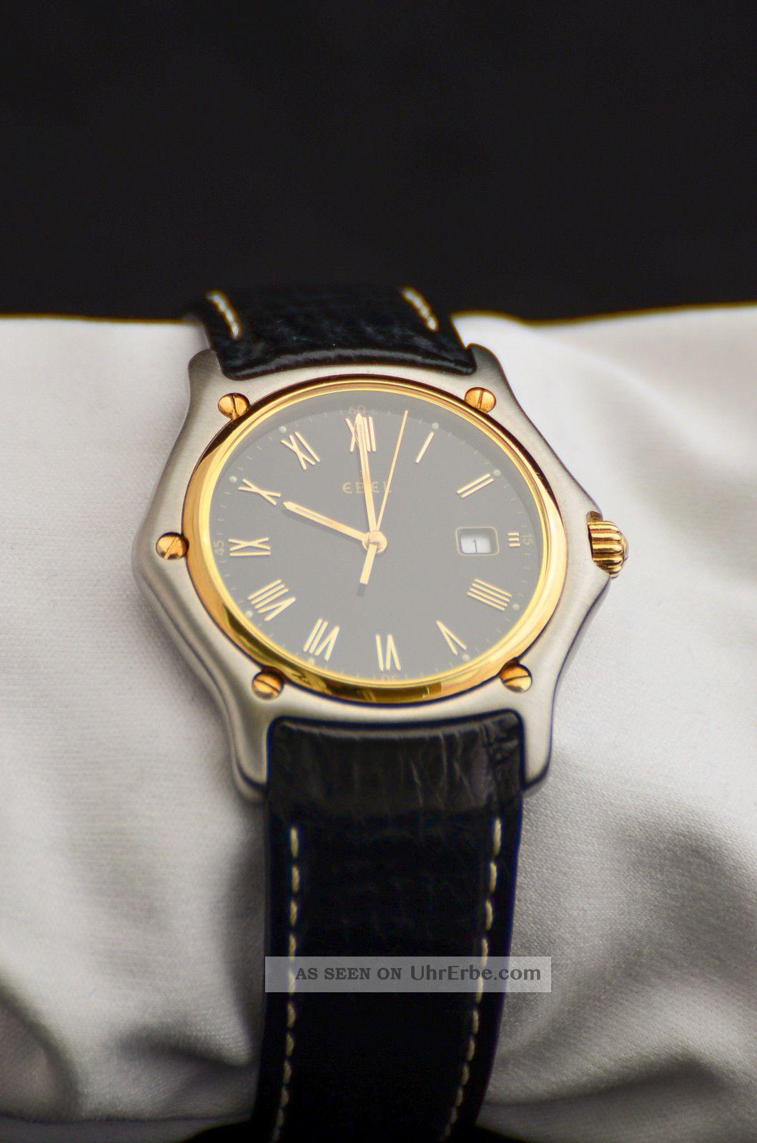 Ebel 1911 Lady 18 K Gold Bezel Swiss Mit Faltschliesse Armbanduhren Bild