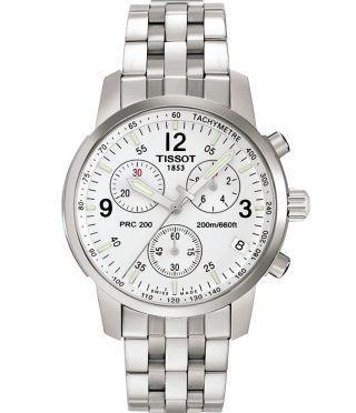 Tissot Herren Prc 200 T17.  1.  586.  32 Taucher Silber Chronograph Uhr T17158632 Bild