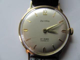 Zentra Herren Uhr 585er Gold 21 Rubis Bild