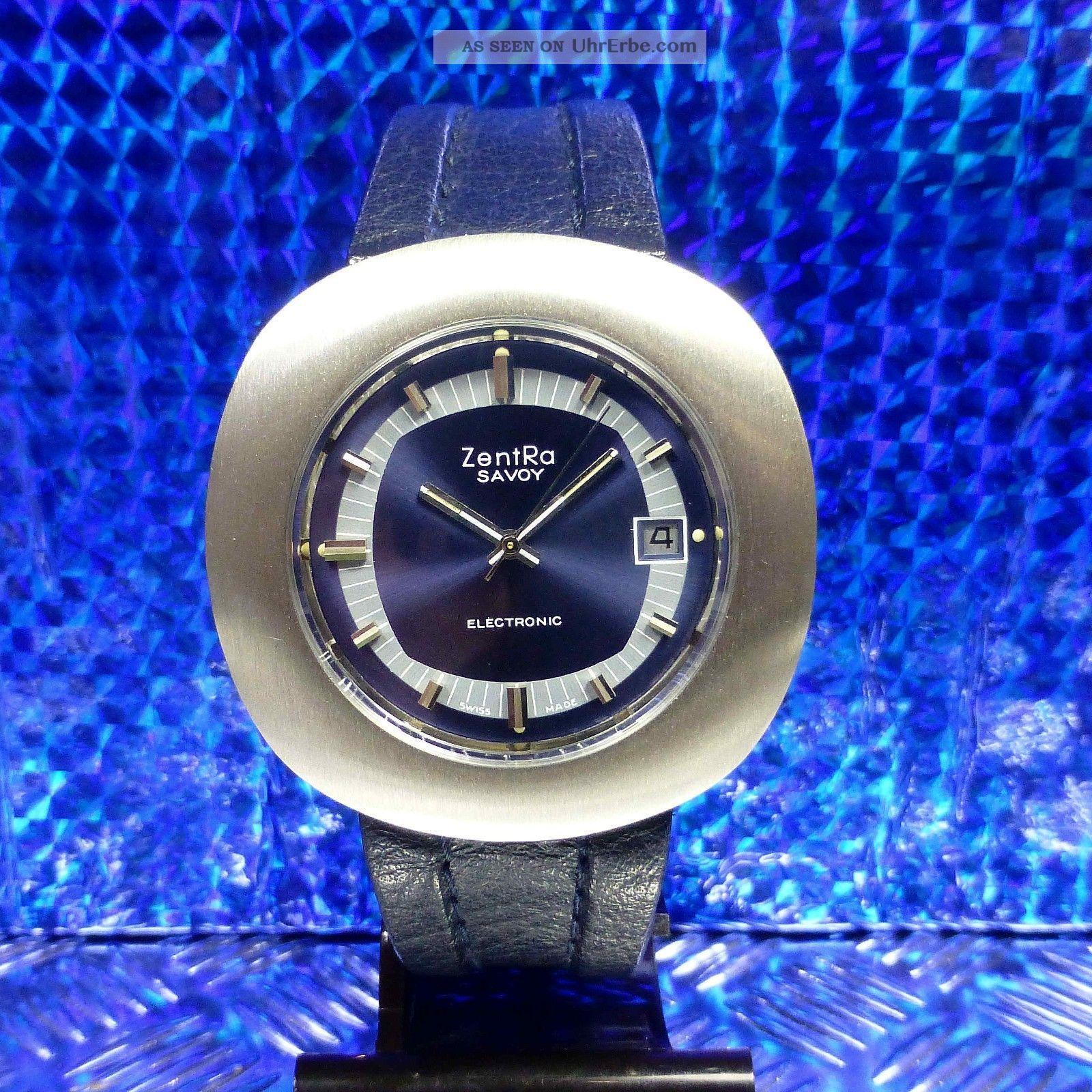 Vintage 70èr Jahre Große Zentra Savoy Dynotron Electronic Esa 9154 Herrenuhr Armbanduhren Bild