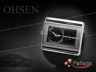 Ohsen Wasserdicht Digital Analog Chronograph Armbanduhr Bild