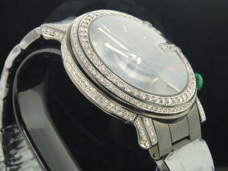 Herren 6 Ct.  Eigener Diamant Chronograph Gucci Voll Iced Seite Schutzhülle Bild