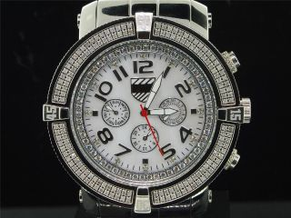 Herren Platinum Watch Firma 5th Avenue Joe Rodeo 160 Diamant Watch Pwc - 5av100 Bild