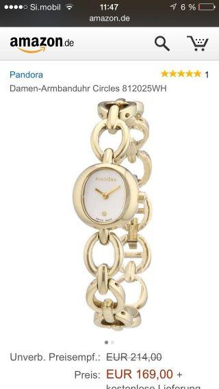 Pandora Circles Uhr Goldfarben,  Ovp Bild